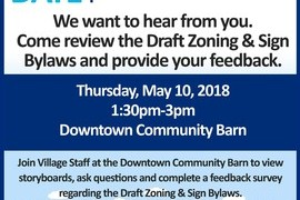 Village to Host Pop-Up Draft Zoning & Sign Bylaw Session for Downtown Businesses, Thursday May 10th